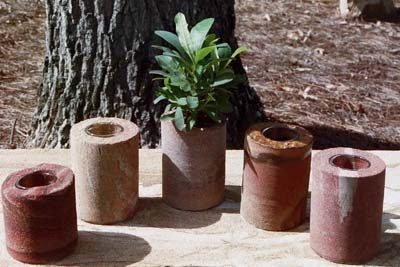 Sandstone Candle Holders