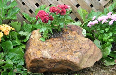Drilled Stone Planter