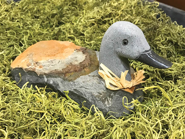 Rusted Basalt Duck