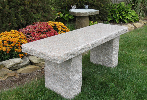 Coral Granite Bench Stone Age Creations Ltd