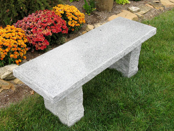 Blue Grey Granite Outdoor Bench By Stone Age Creations