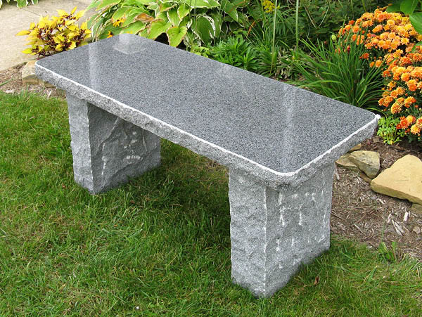 Charcoal Granite Outdoor Bench By Stone Age Creations
