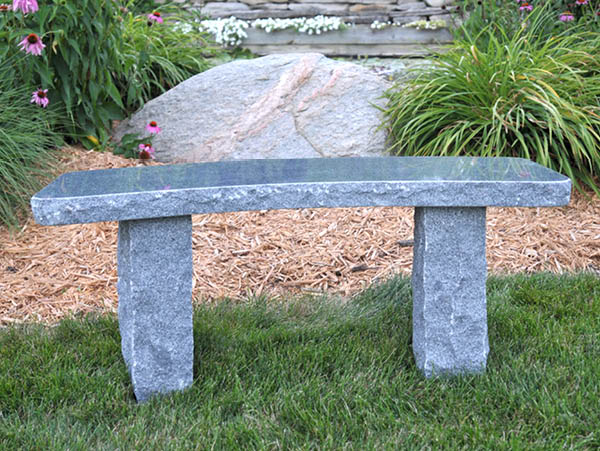 Curved Charcoal Bench