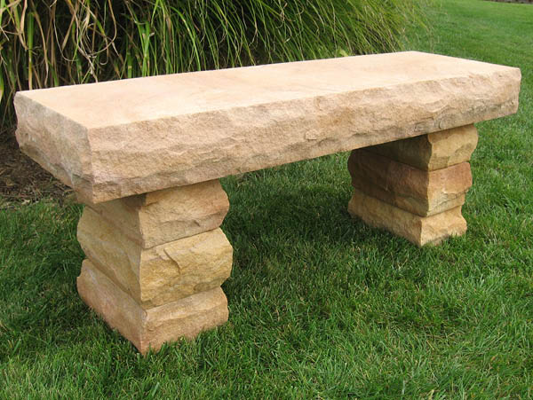 Sunset Sandstone Bench