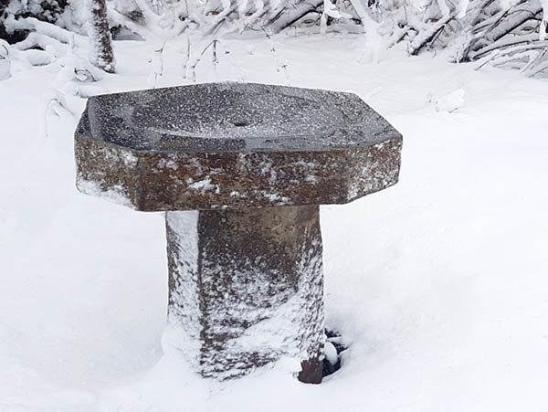 Basalt Fountain Birdbath
