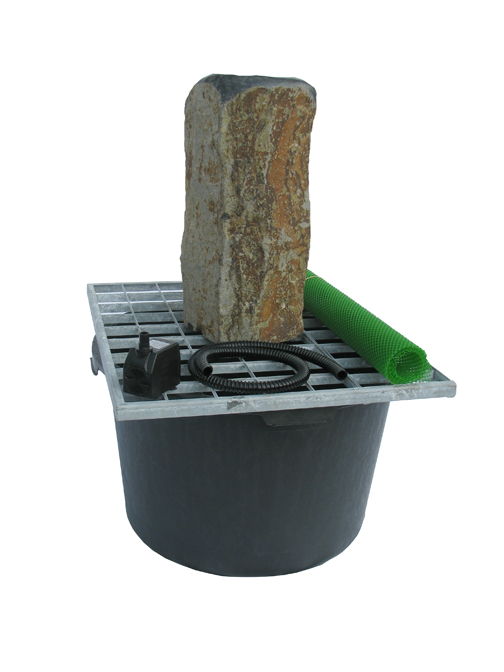 Polished Top Basalt Fountain Kit By Stone Age Creations