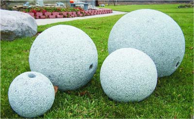 Drilled Granite Sphere