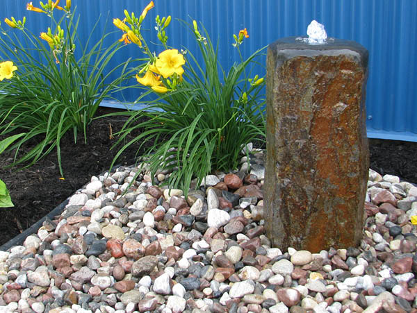 Polished Top Basalt Fountain Kit