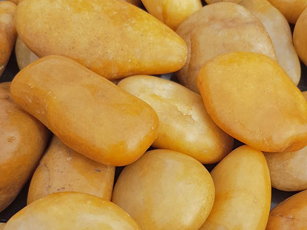 Yellow Polished Pebbles